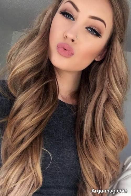 رنگ موی زنانه قهوه ای روشن
