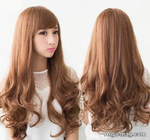 رنگ موی قهوه ای دخترانه