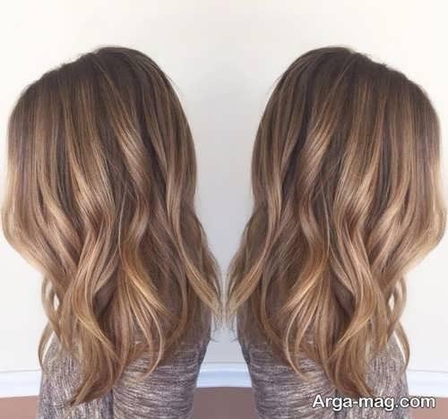 رنگ موی دخترانه قهوه ای روشن