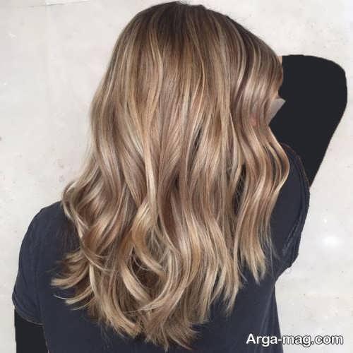 رنگ موی زیبا و جذاب قهوه ای روشن