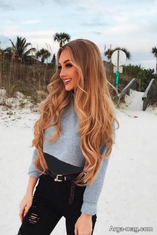 مدل رنگ موی قهوه ای روشن