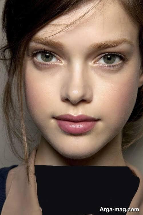 مدل آرایش لایت صورت دخترانه