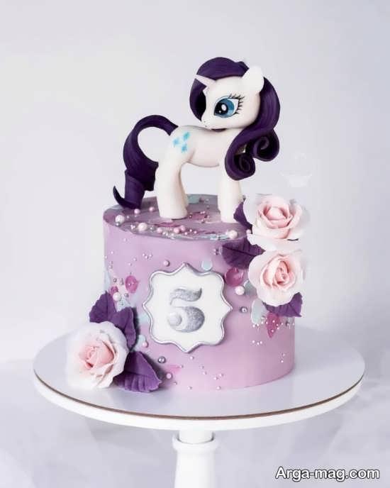 کیک تولد با طرح پونی کوچولو