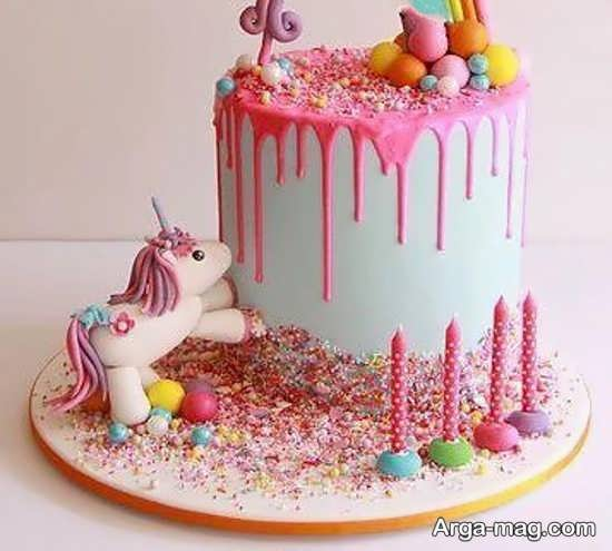 کیک تولد کودکانه با شخصیت پونی کوچولو