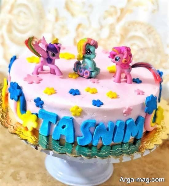 نمونه هایی از کیک تولد پونی کوچولو