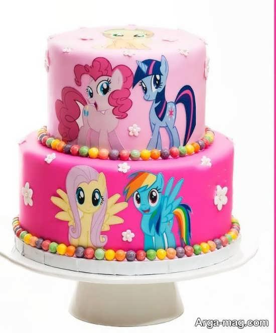 کیک تولد با طرح خاص پونی کوچولو
