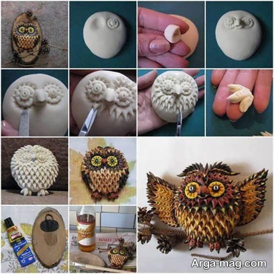 مراحل ساخت عروسک تزیینی با خمیر چینی