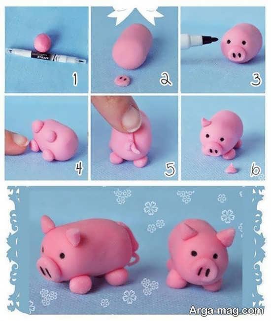 مراحل ساخت عروسک با خمیر چینی