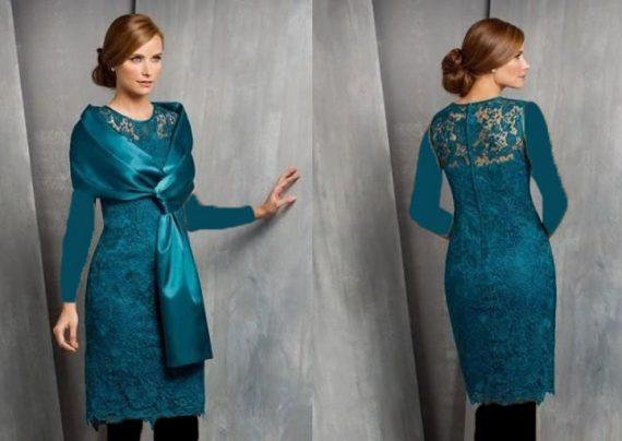 مدل لباس مجلسی با پارچه گیپور شیک و زیبا