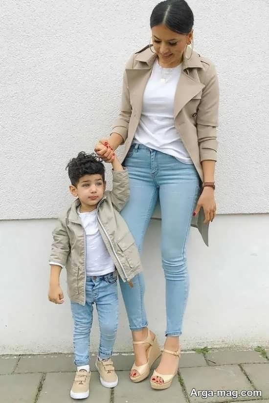 مدلی دوست داشتنی از لباس ست مادر و پسری