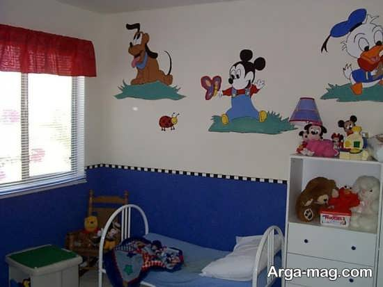 نقاشی روی دیوار برای کودک