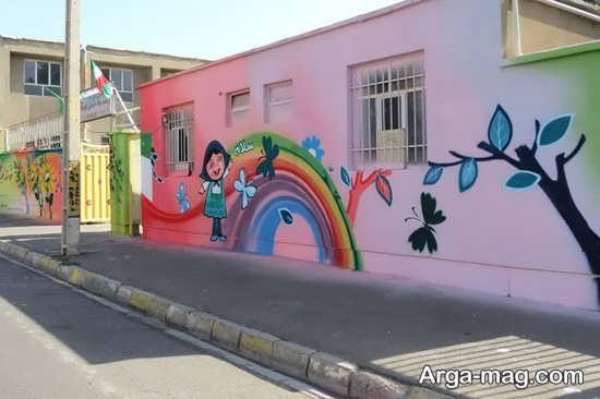 نقاشی روی درب مدرسه طرح های نقاشی دیواری جدید و خلاقانه و بسیار زیبا