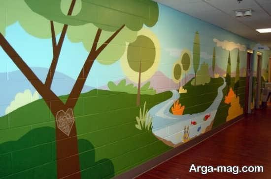 نقاشی روی دیوار مهدکودک