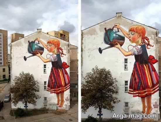 نقاشی روی دیوار ساختمان
