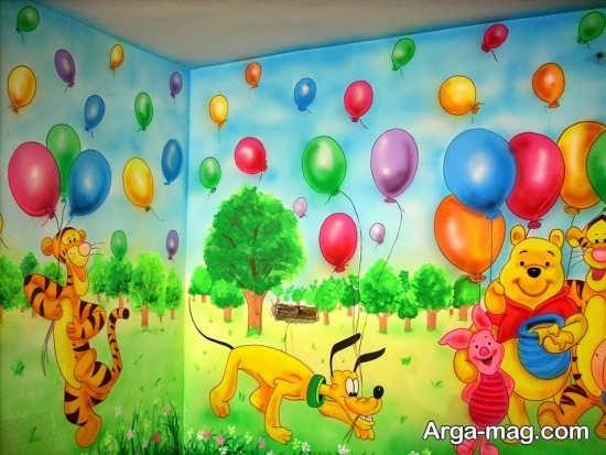 نقاشی فانتزی روی دیوار