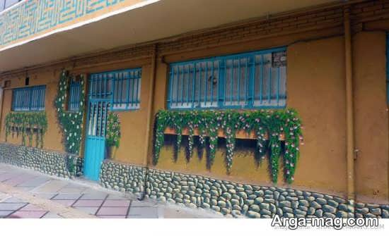 نقاشی شیک و جالب روی دیوار