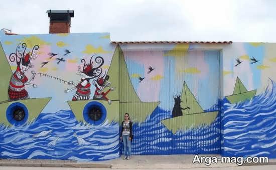 نقاشی دیواری زیبا و جدید