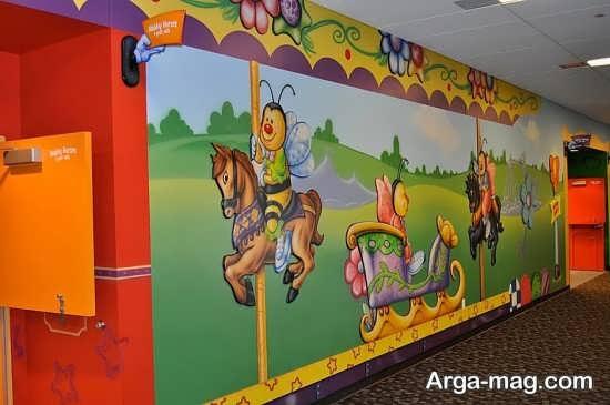 نقاشی روی دیوار برای مهدکودک