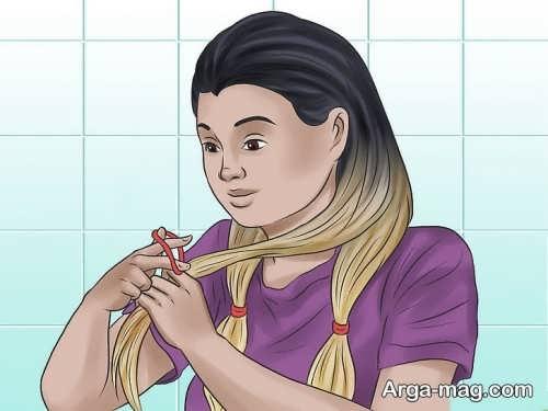 آموزش مدل رنگ موی آمبره