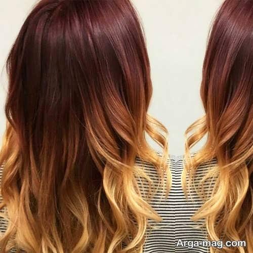 مدل رنگ مو آمبره جدید و شیک