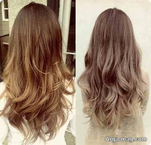 رنگ موی زیبا و خاص آمبره
