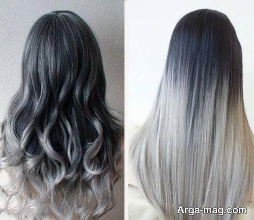 رنگ موی خاکستری آمبره