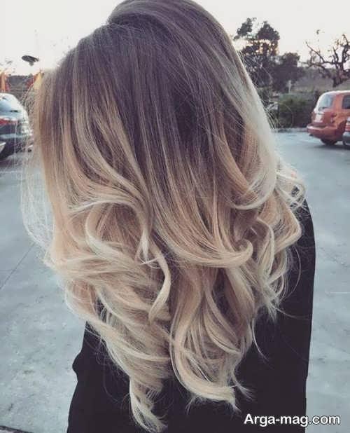 رنگ موی زیبا آمبره