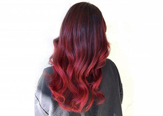 آموزش رنگ موی آمبره