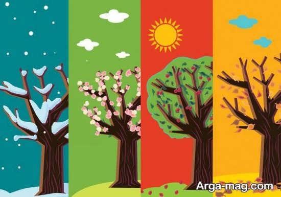 طراحی چهار فصل برای کودکان