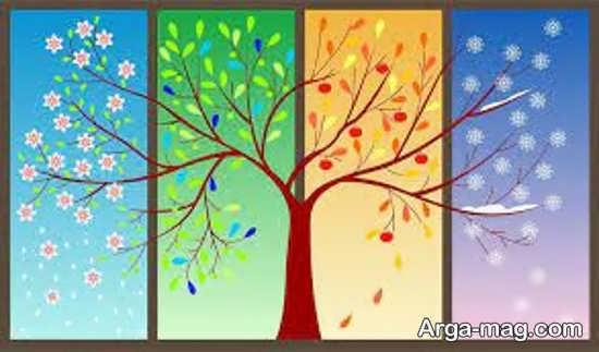 جدیدترین نقاشی چهار فصل