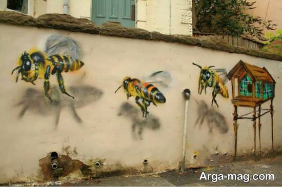 نقاشیهای سه بعدی دیواری دوست داشتنی