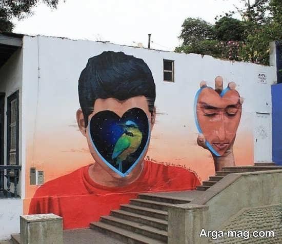 نقاشیهای سه بعدی دیواری منحصر به فرد