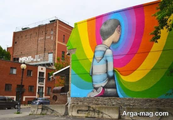 نقاشیهای سه بعدی دیواری مدرن