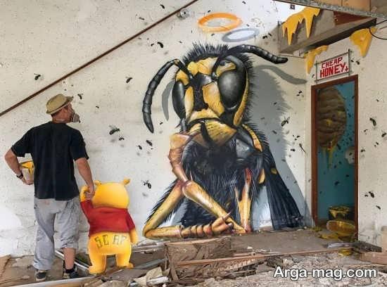 خاص ترین نقاشی دیواری