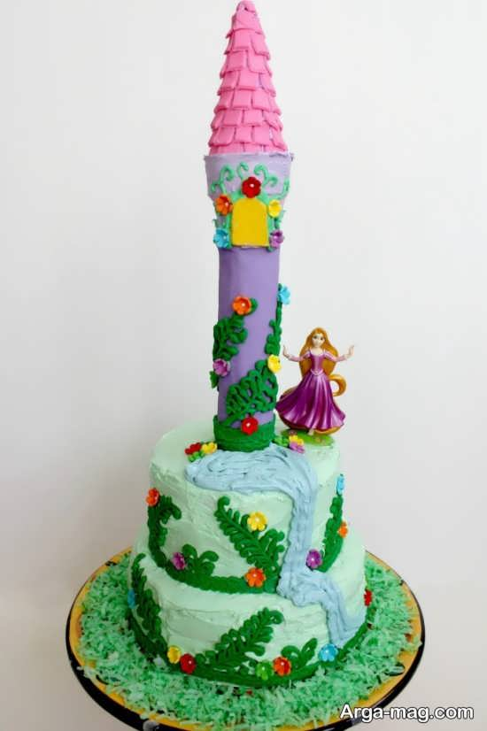 تزیین کیک مدل گیسو کمند