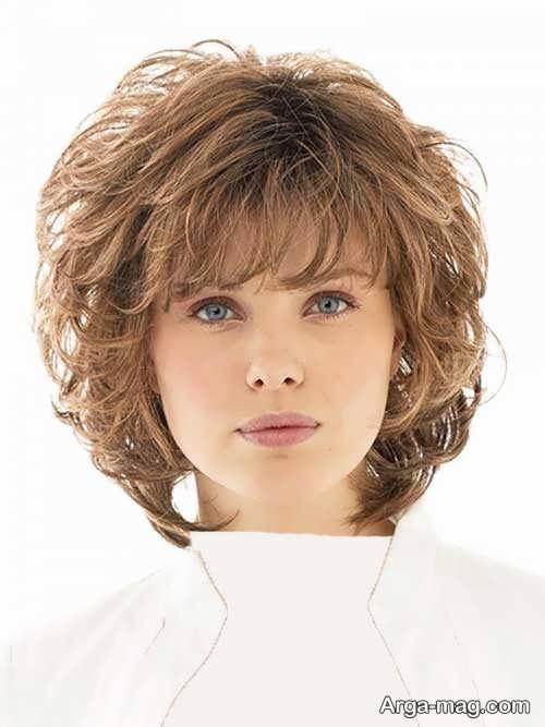 مدل موی فر کوتاه برای صورت گرد