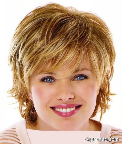 مدل موی کوتاه و جذاب برای صورت گرد