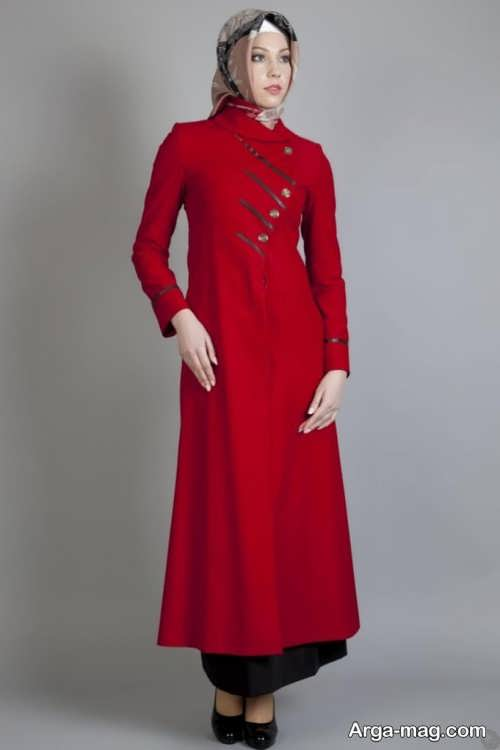 مدل مانتو قرمز زنانه
