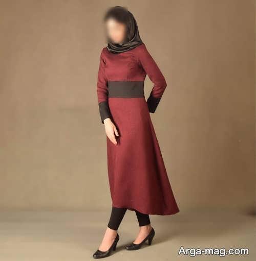 مدل مانتو بلند و ساده زنانه