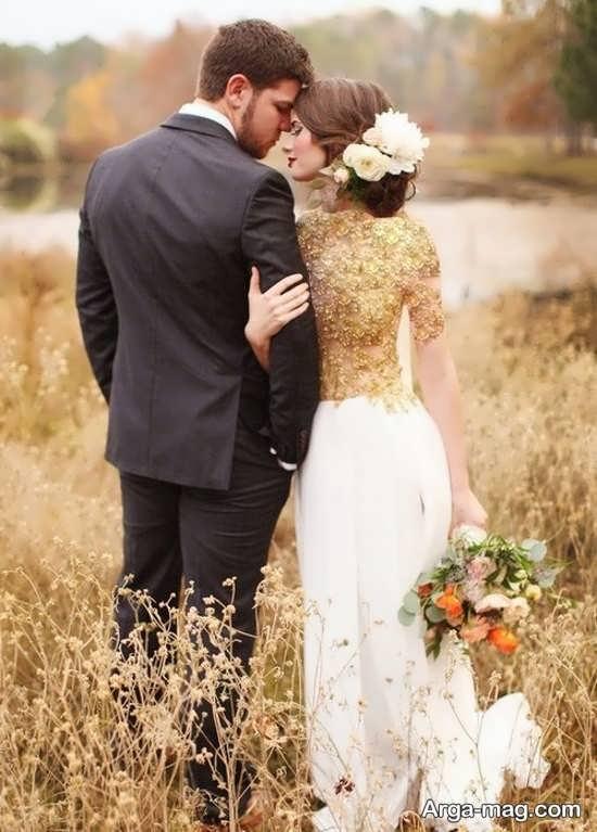 ژستهای عروس و داماد در طبیعت