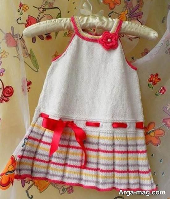 لباس بافتنی دخترانه زیبا