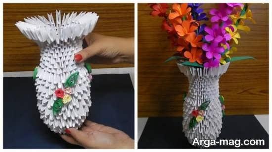 ساختن گلدان کاغذی