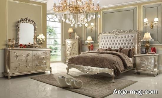 مدل سرویس خواب چوبی کلاسیک