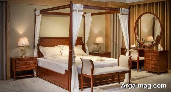 شکیل ترین سرویس خواب چوبی