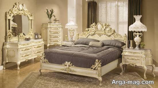 سرویس خواب کلاسیک سفید