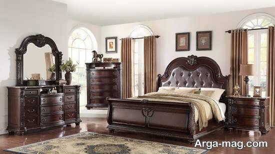 سرویس خواب کلاسیک قهوه ای