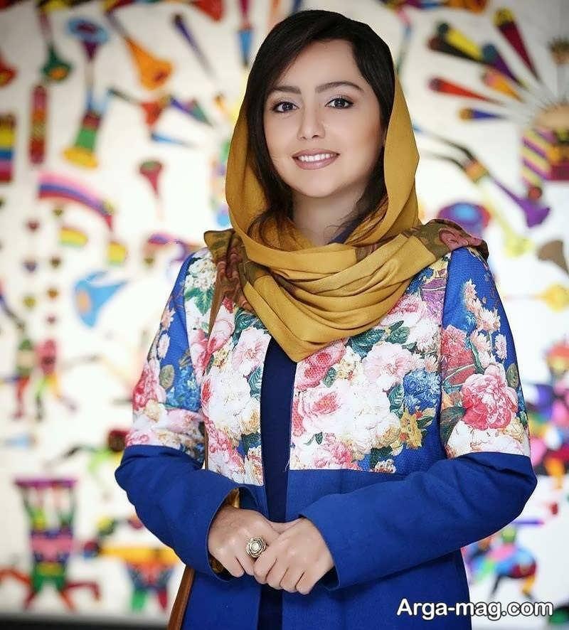 نازنین بیاتی در افتتاحیه نمایشگاه نقاشی