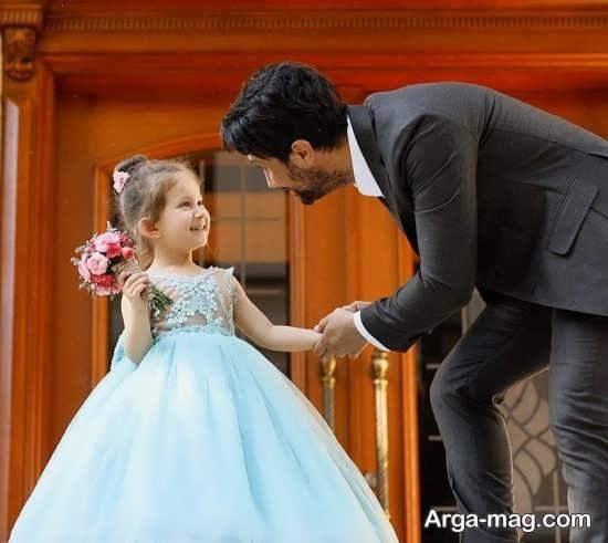 شاهرخ استخری به همراه دخترش