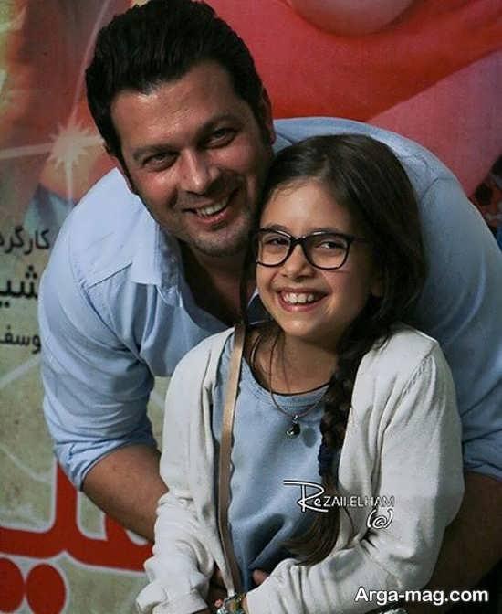عکس پژمان بازغی و دخترش