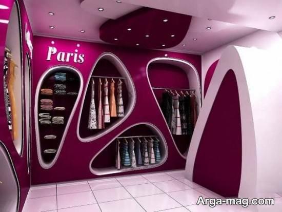 دکوراسیون داخلی مغازه لباس فروشی
